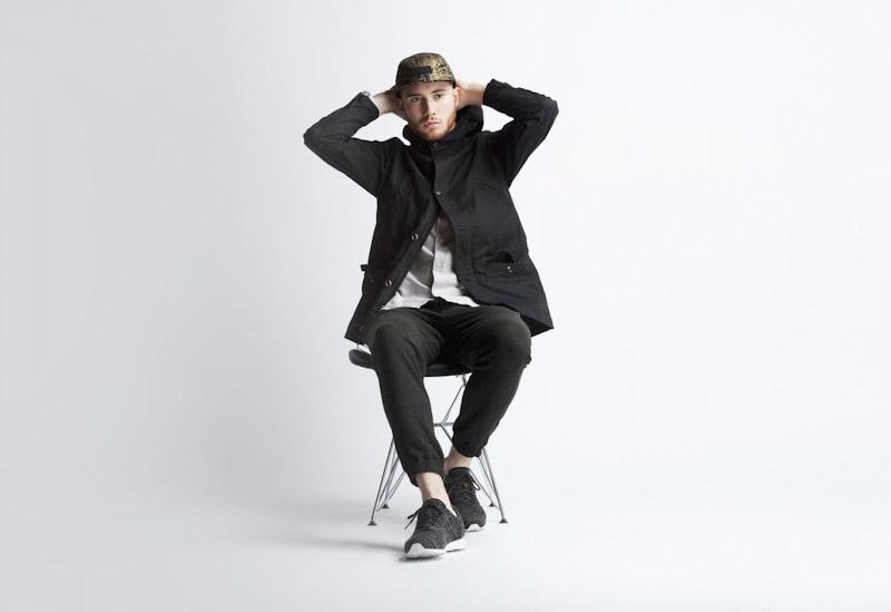 Publish – pánské oblečení – černá jarní parka, kalhoty