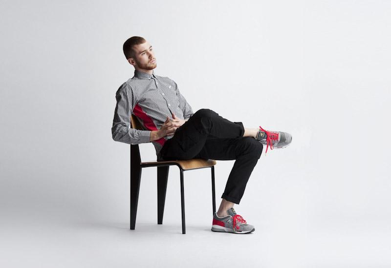 Publish – pánské oblečení – kostičkovaná košile, černé kalhoty