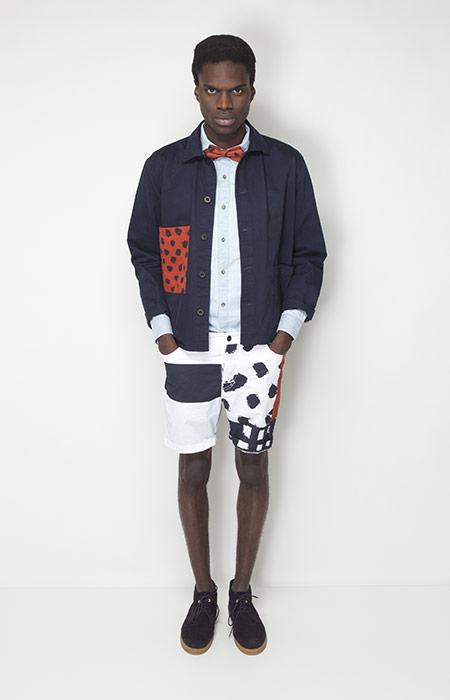 Ucon Acrobatics – pánské oblečení – jarní modrá bunda, šortky se vzorem