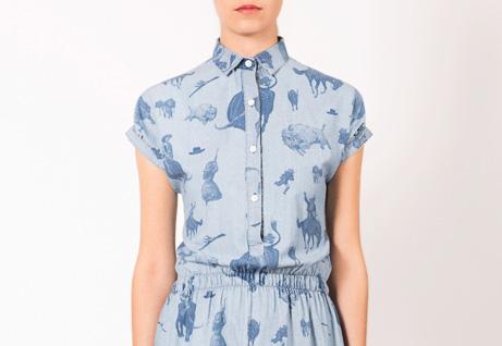 33c7fb418b3 Estetika Divokého západu v dámském oblečení značky Frisur – jaro léto 2014