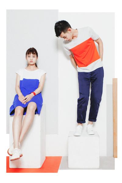 Aloye – dámské šaty, pánské tričko, pánské kalhoty
