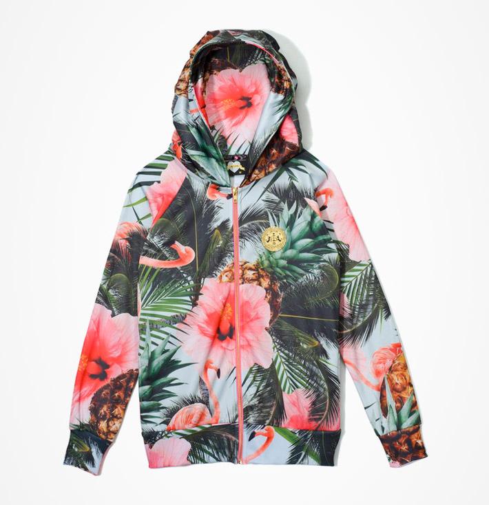 Femi Pleasure – dámská jarní aletní bunda skapucí, květinový vzor