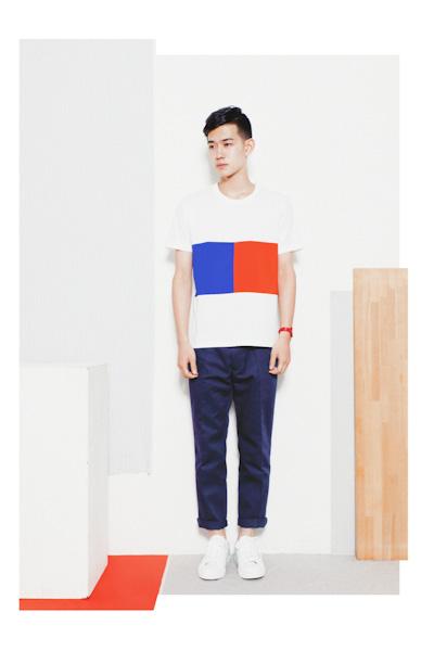 Aloye – pánské třičko bílo-modro-červené, modré kalhoty