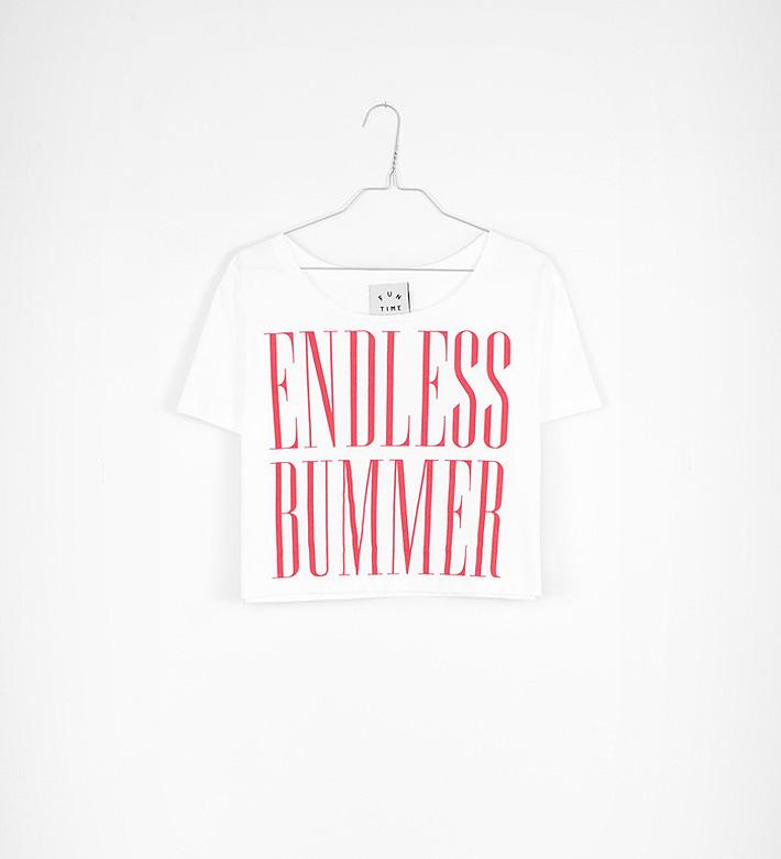Fun Time – oblečení – dámské krátké bílé tričko, top