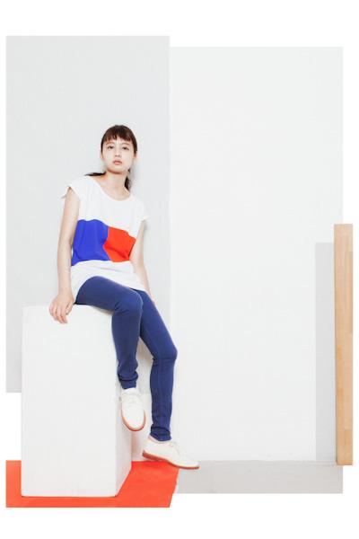 Aloye – dámské třičko bílo-modro-červené, modré kalhoty