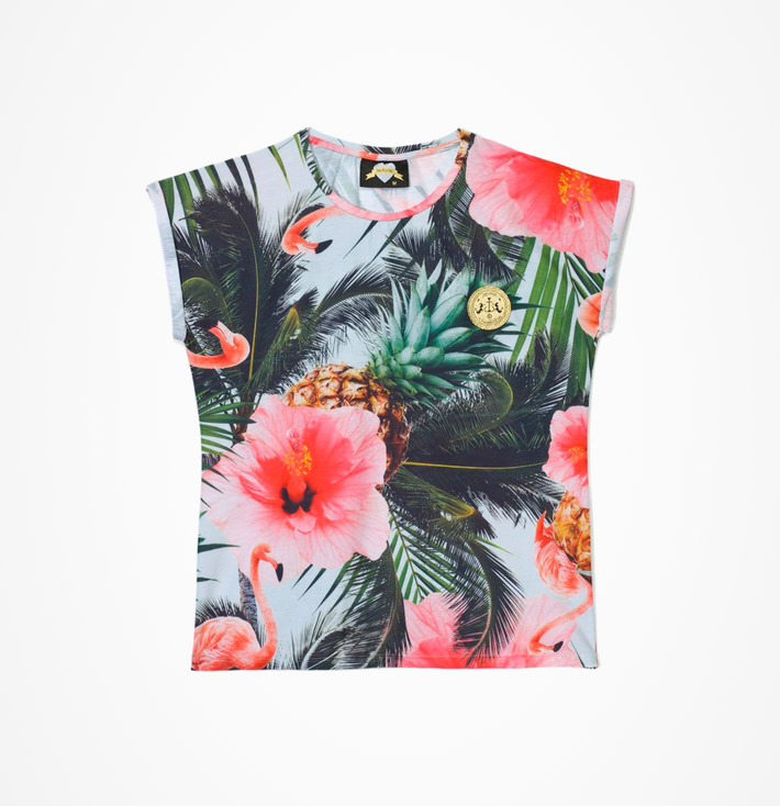 Femi Pleasure – dámské krátké tričko, letní vzor