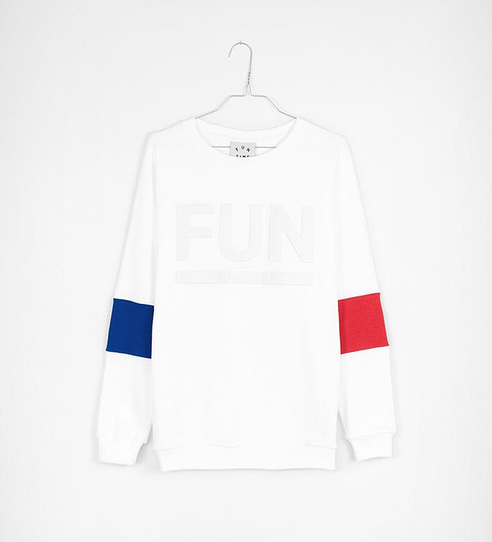 Fun Time – oblečení – bílá mikina