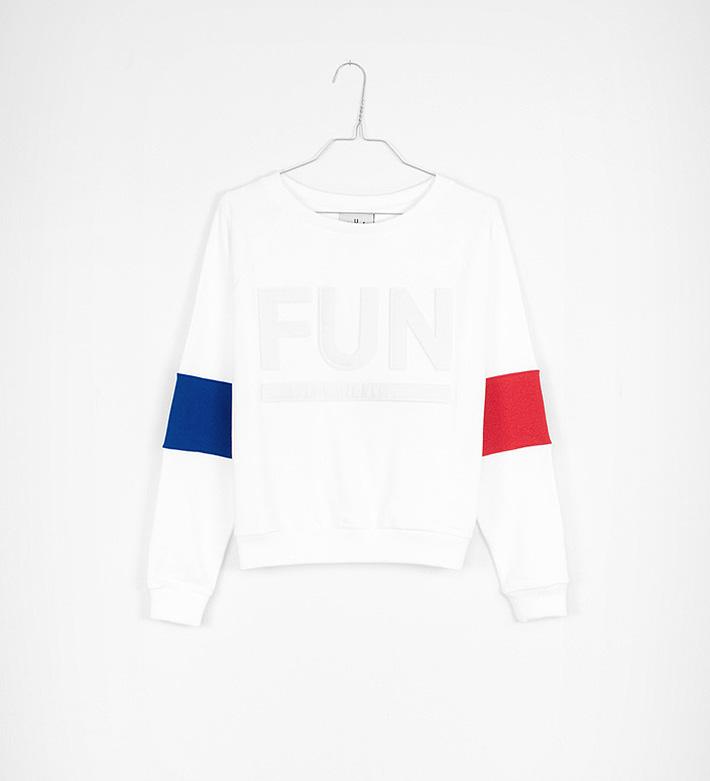 Fun Time – oblečení – dámská bílá mikina