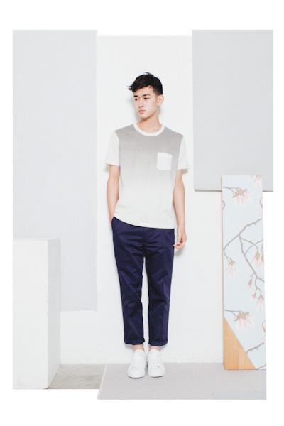 Aloye – pánské tričko – barevný přechod, modré kalhoty