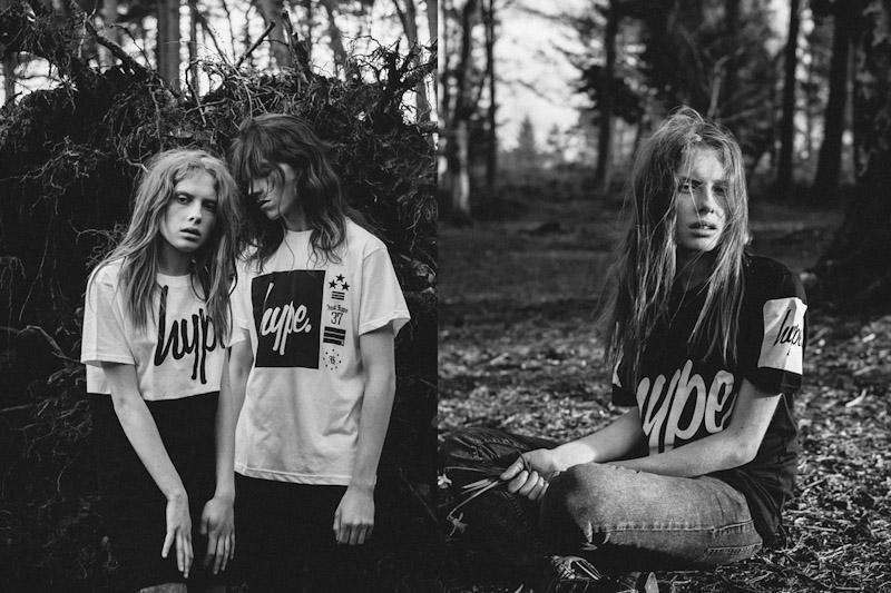 Just Hype – Monotone Collection – bílé tričko, černé tričko