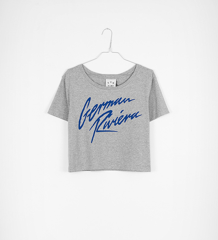 Fun Time – oblečení – dámské šedé melírové tričko