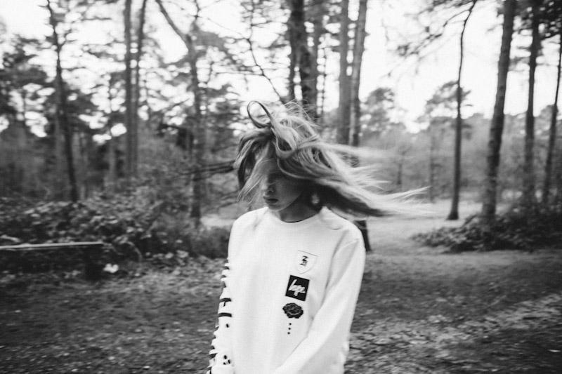 Just Hype – Monotone Collection – bílá mikina spotiskem
