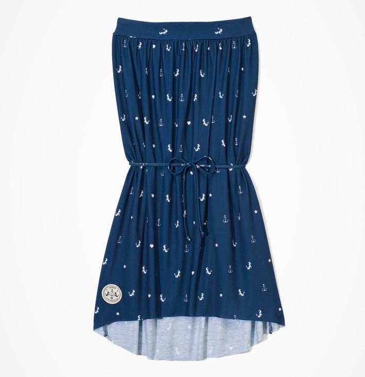 Femi Pleasure – dámské modré letní šaty skotvami