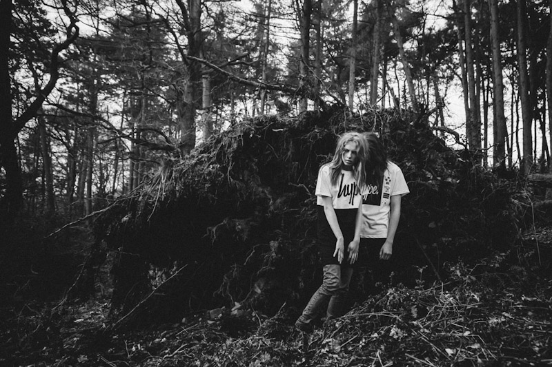Just Hype – Monotone Collection – černobílé tričko spotiskem