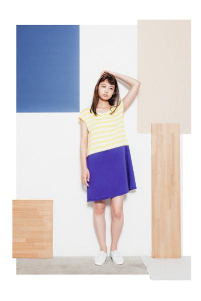Aloye – modro-žluté šaty spruhy
