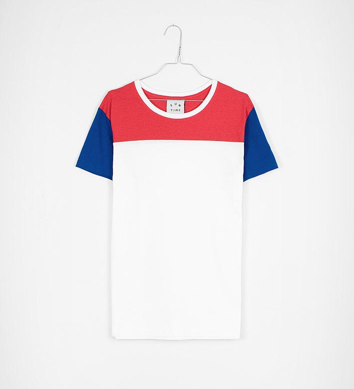 Fun Time – oblečení – bílo-červeno-modré tričko