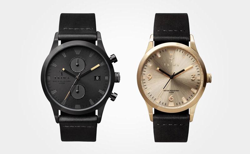 Triwa – luxusní pánské adámské hodinky – Sort of Black/Gold