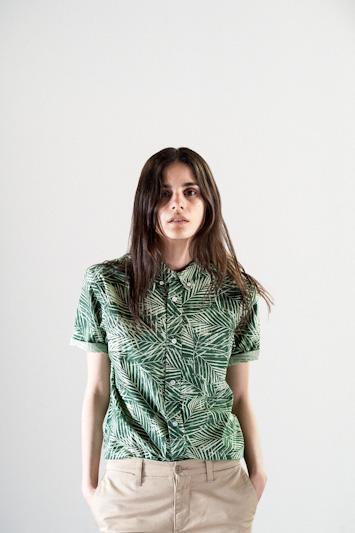 Carhartt WIP – zelená košile se vzorem, dámská