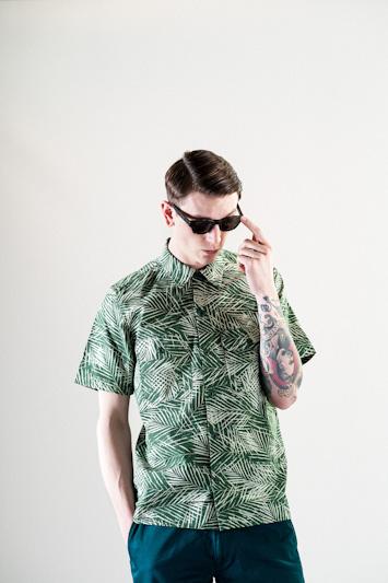 Carhartt WIP – zelená košile se vzorem, pánská