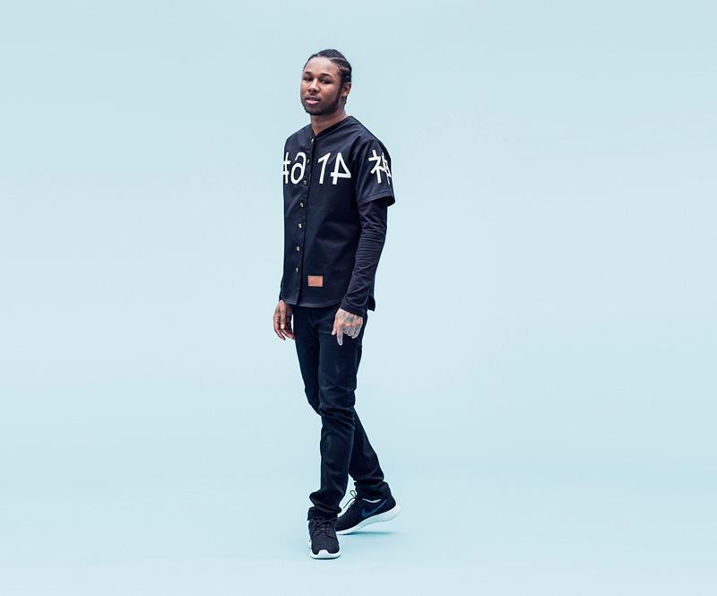 Shook – černá košile, pánská, spotiskem