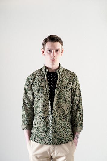 Carhartt WIP – pánská zelená košile se vzorem, dlouhý rukáv