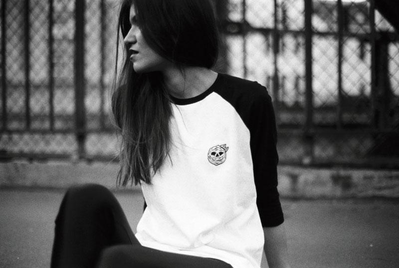 MAMAMA – černo-bílé tričko