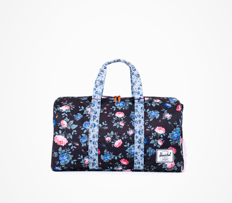 Batoh/taška Herschel Supply – Novel Duffle – Fine China, květinový motiv