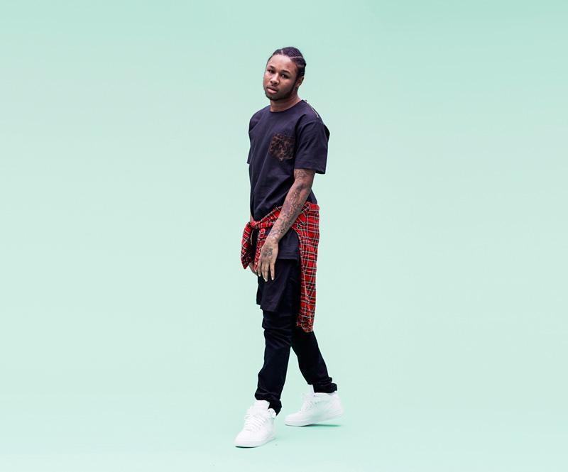 Shook – pánské černé tričko, leopardí kapsička