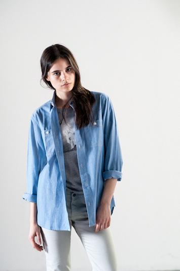 Carhartt WIP – modrá košile, dámská, dlouhý rukáv