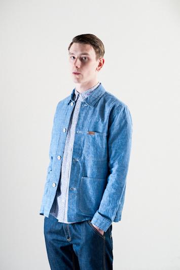 Carhartt WIP – pánská bavlněná košile, modrá, dlouhý rukáv