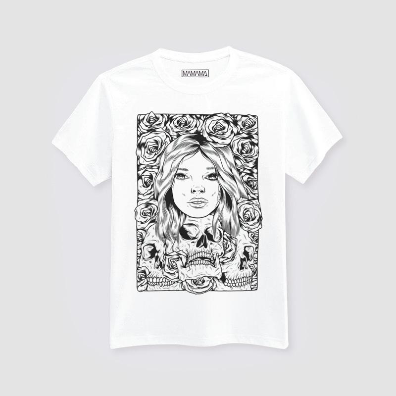 MAMAMA – bílé tričko spotiskem, Mark Goss