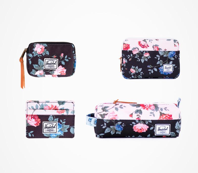 Pouzdro na iPad, peněženka, pouzdro, pouzdro na tužky Herschel supply – Fine China, květinový motiv