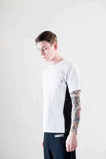 Carhartt WIP – černo-bílé tričko, pánské