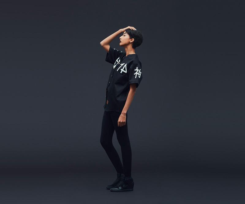 Shook – černá košile sbílým potiskem, dámská