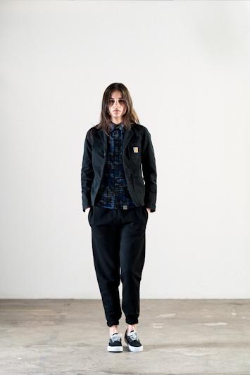 Carhartt WIP – dámské černé tepláky, jarní černá bunda