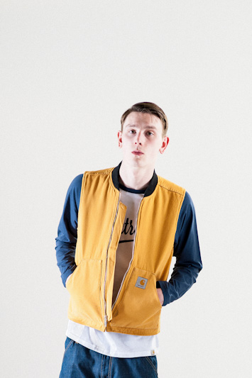 Carhartt WIP – pánská jarní/letní bunda do pasu, žluto-modrá