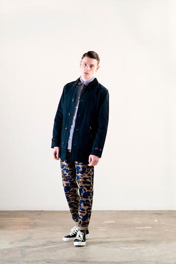 Carhartt WIP – pánský lehký kabát, modrý, jarní/letní, maskáčové kalhoty