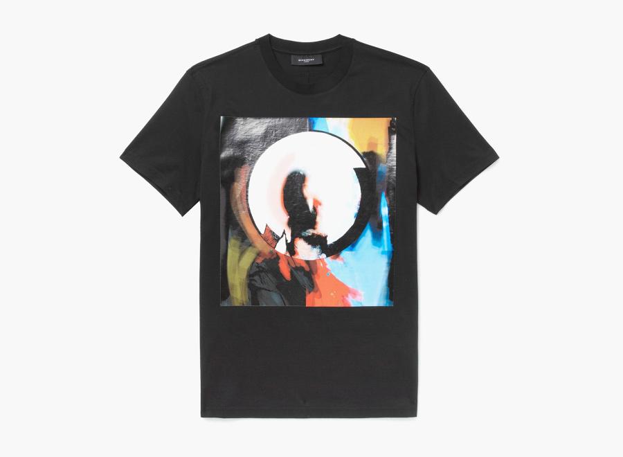 Givenchy – černé tričko s potiskem