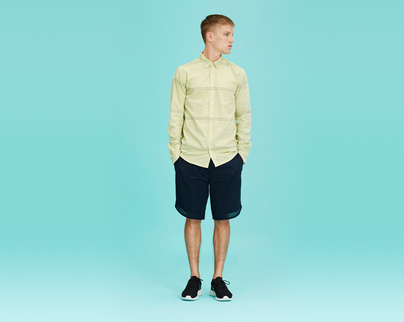 Libertine-Libertine – pánské oblečení – košile – dlouhý rukáv, modré šortky