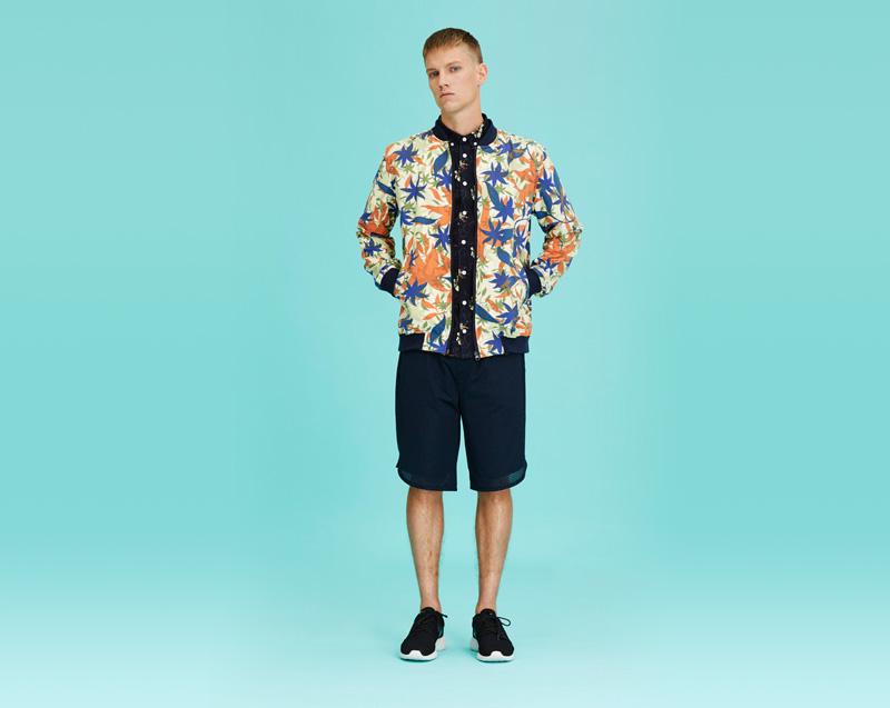Libertine-Libertine – pánské oblečení – bunda do pasu, modré šortky