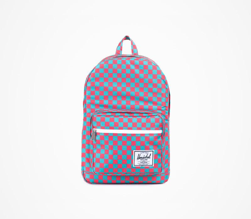 Herschel Supply batohy – stylový batoh na záda, červeno modrý, plátěný