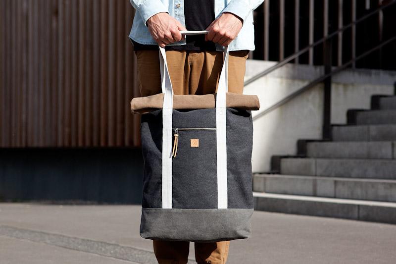 Ucon Acrobatics – bavlněný batoh na záda, do ruky, šedý