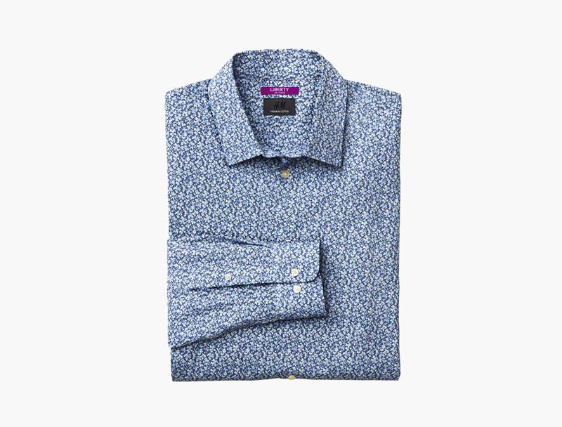 Modrá pánská košile se vzorem Liberty London & HM