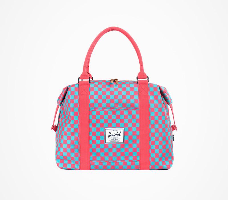 Herschel Supply – dámská taška do ruky/přes rameno, kostkovaná, červeno-modrá