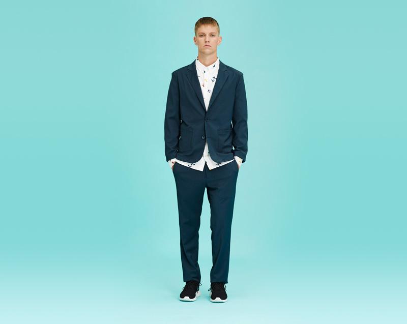 Libertine-Libertine – pánské oblečení – modré sako, modré kalhoty