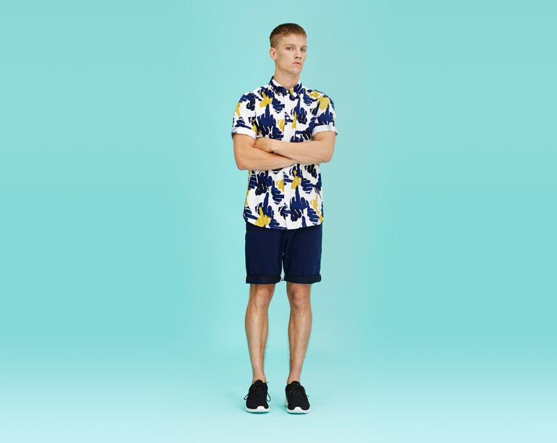 Libertine-Libertine – pánské oblečení – vzorovaná košile, krátký rukáv