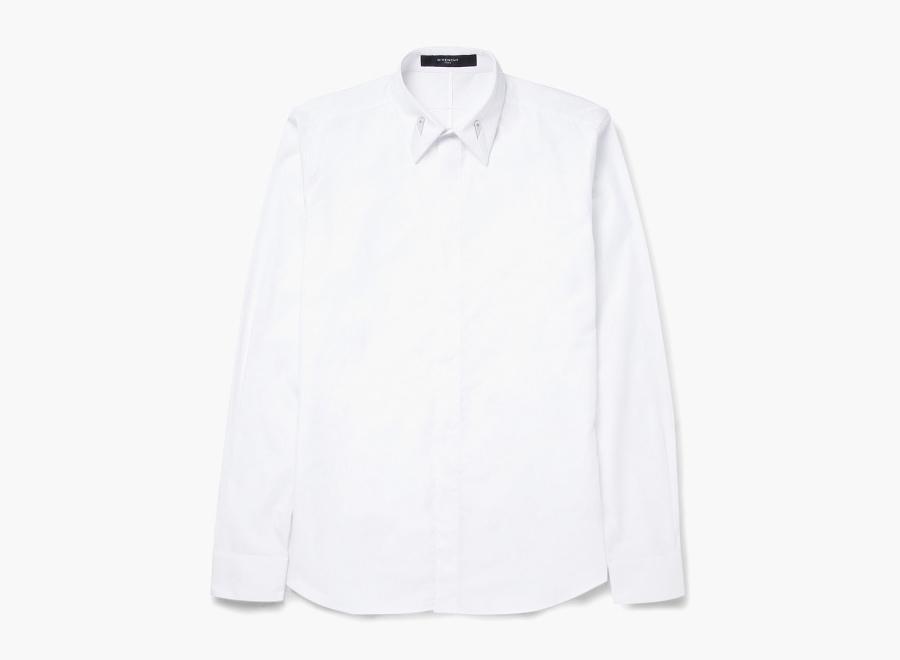 Givenchy – pánská bílá luxusní košile, dlouhý rukáv