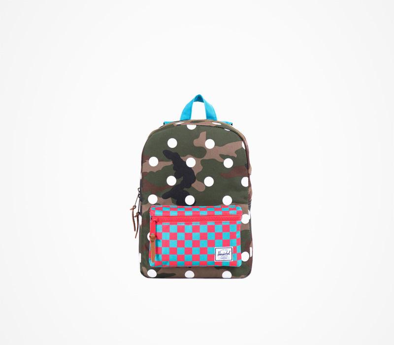 Herschel Supply batohy – malý plátěný batoh na záda, maskáčový, kostkovaný