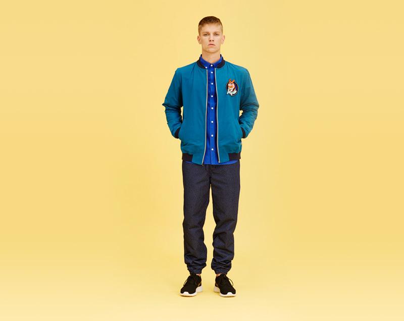 Libertine-Libertine – pánské oblečení – modrá bunda do pasu, kalhoty