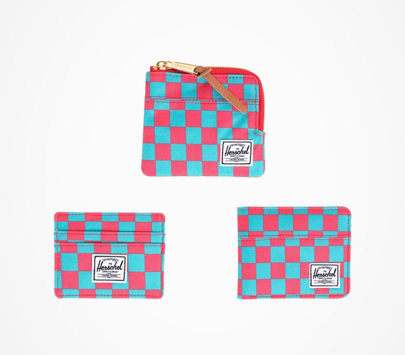 Herschel Supply peněženky – kostkované, modro-červené